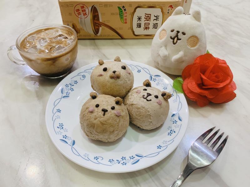 造型米漿麻糬豆沙酥&咖啡米漿拿鐵