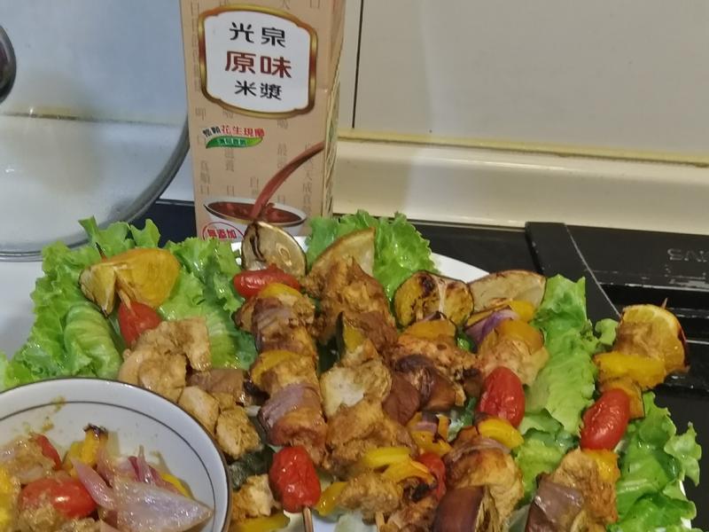 泰式風味中秋雞肉串燒