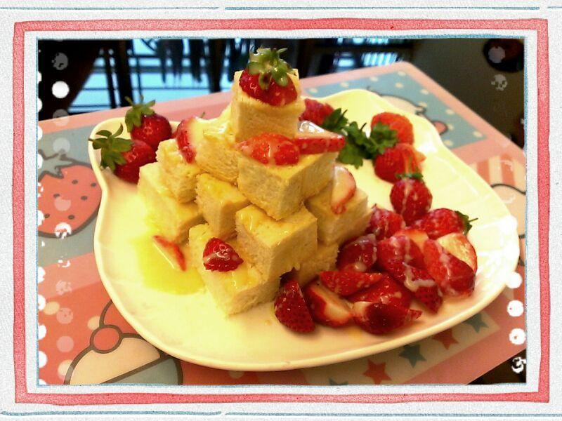 品靚上菜-[草莓就愛鷹牌煉奶]之草莓金磚