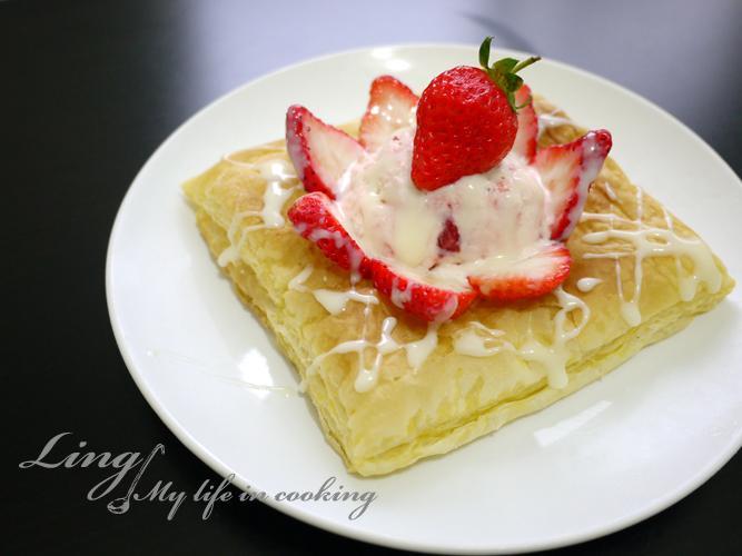 甜點♪《草莓就愛鷹牌煉奶》煉奶草莓派