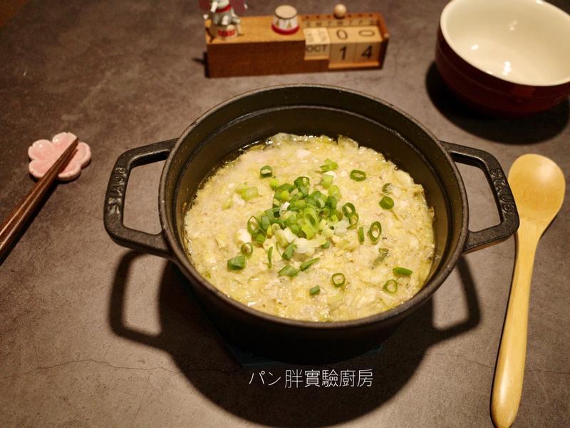 鹹蛋高麗菜蒸肉餅(電鍋版)