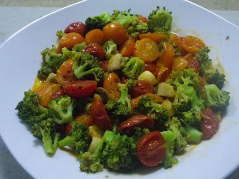 蕃茄蘑菇綠花椰菜