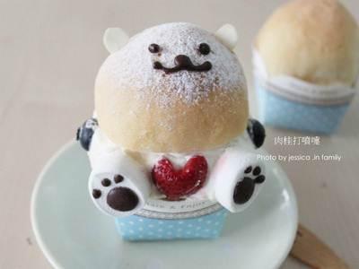 【草莓就愛鷹牌煉乳】奶油熊(餐包小創意)