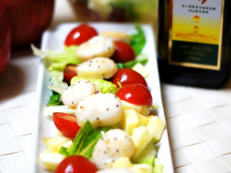 健康廚房黃金玄米油 10分鐘出年菜~金玉滿堂干貝彩蔬沙拉