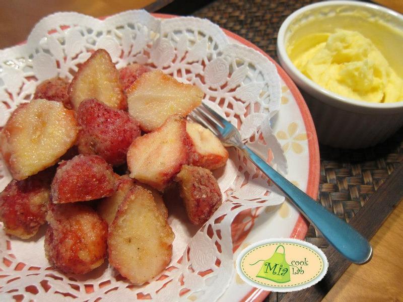 草莓天婦羅佐Mascarpone起司醬