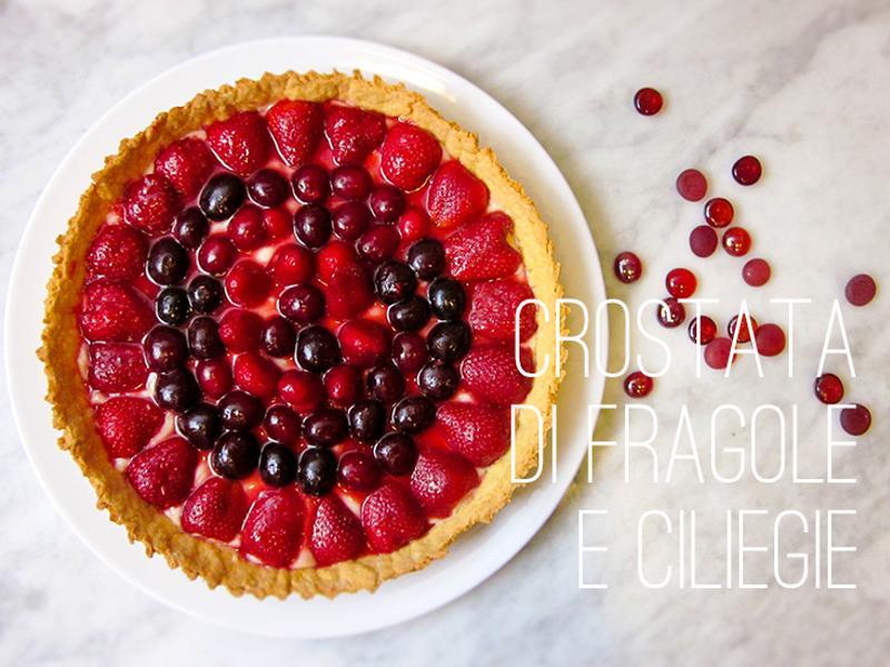 夏日甜點! 草莓櫻桃卡士達塔