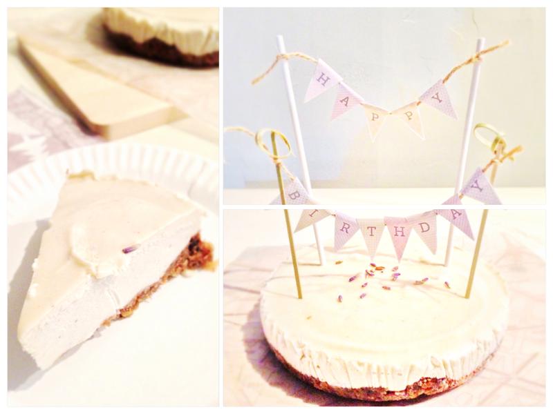 [免烘焙][無蛋]薰衣草蜂蜜偽起司蛋糕