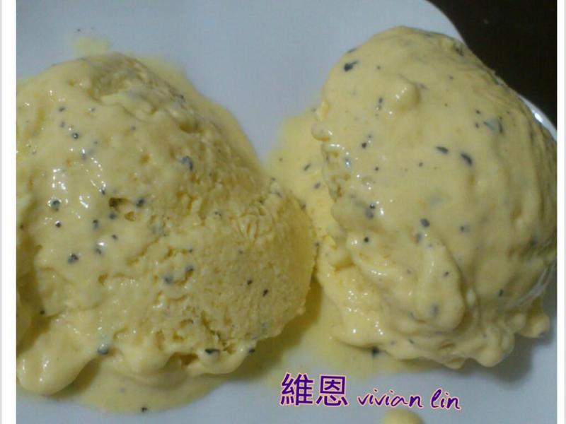 百香+芒果 冰淇淋