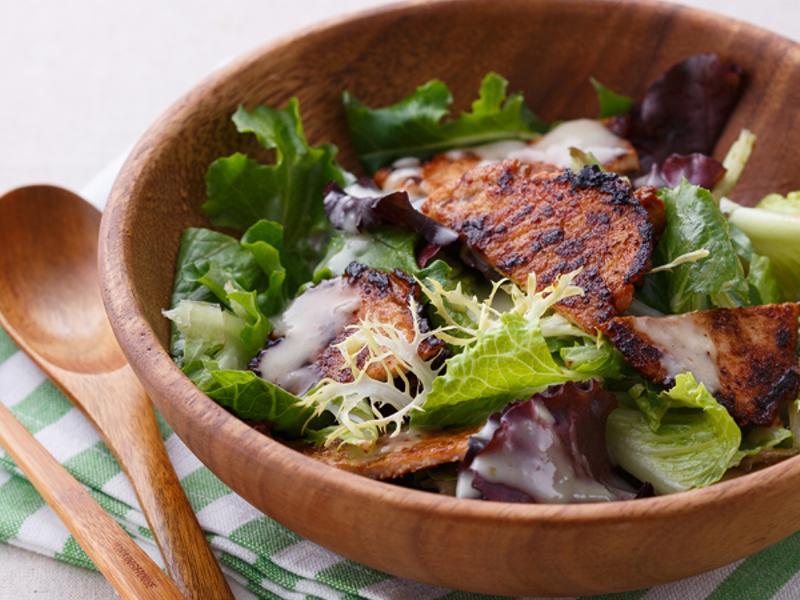 反浪費料理》烤肉片蔬菜沙拉