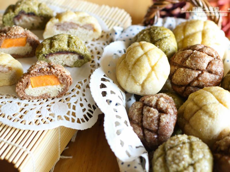 簡易迷你菠蘿麵包! 免揉麵糰! 小烤箱也能做!
