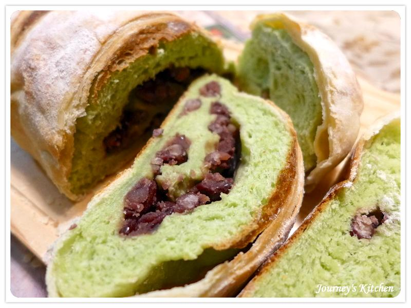 抹茶紅豆歐克麵包