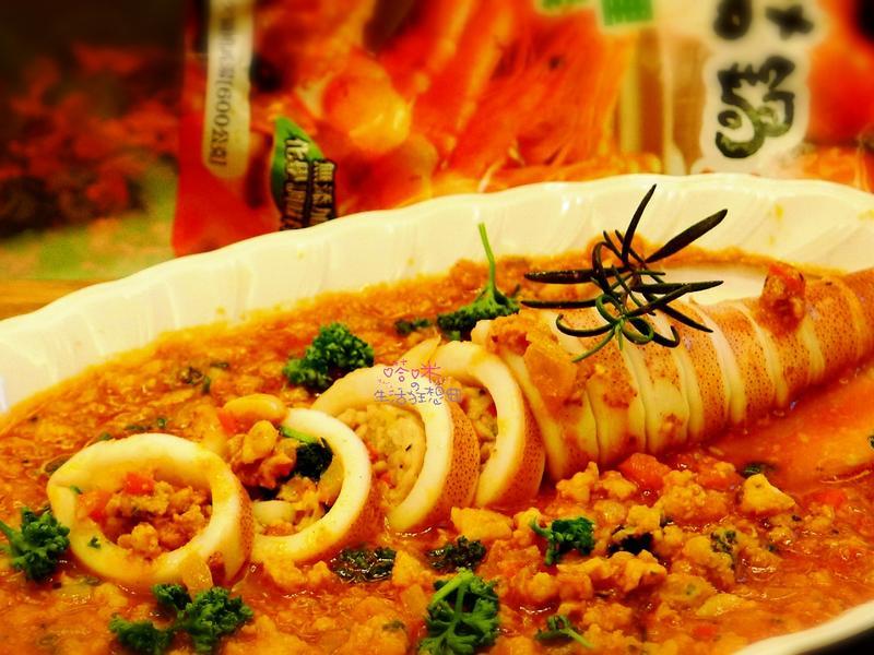 茄汁肉醬鑲透抽【可果美蕃茄鍋高湯】