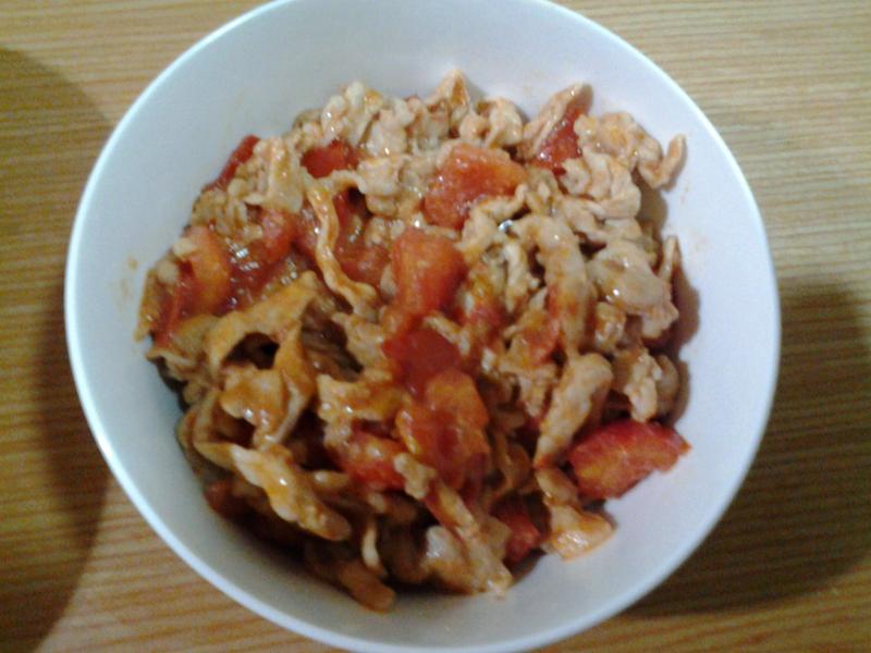 番茄炒豬肉