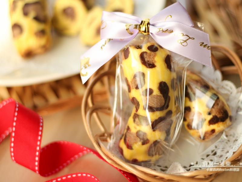 自製(豹紋)東京香蕉蛋糕 ♥巧克力香蕉卡士達餡♥