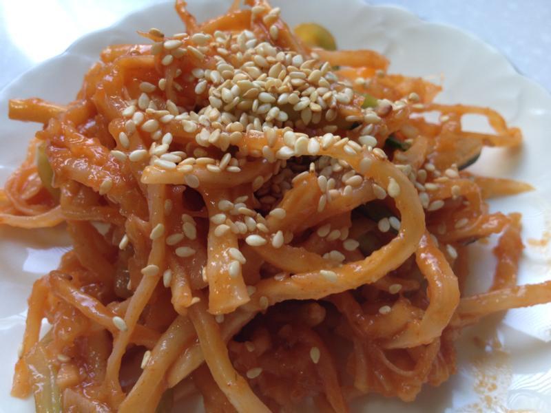 【韓式料理】涼拌魷魚絲