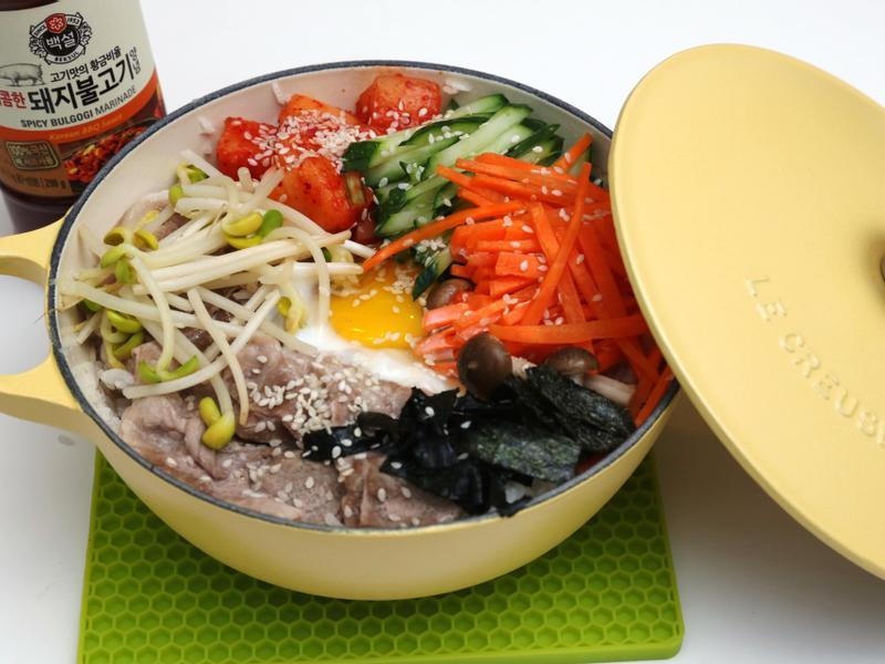 韓式泡菜鑄鐵鍋飯 (2人份)