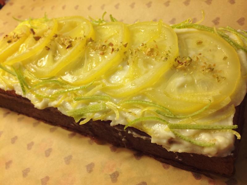 檸檬輕磅蛋糕X糖漬檸檬片