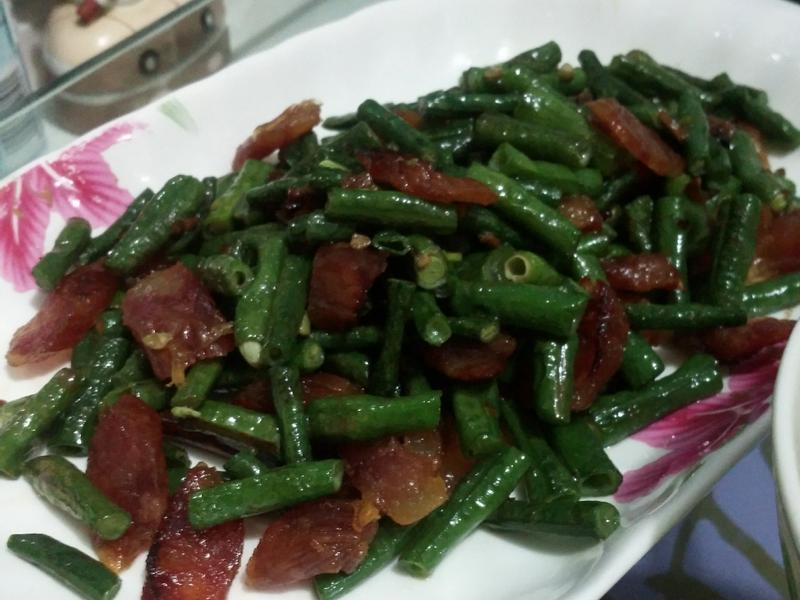 爆炒小菜-*-四季豆炒臘腸