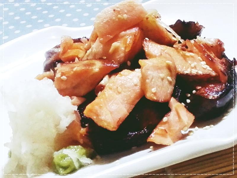 日式居酒屋味增烤鮭魚