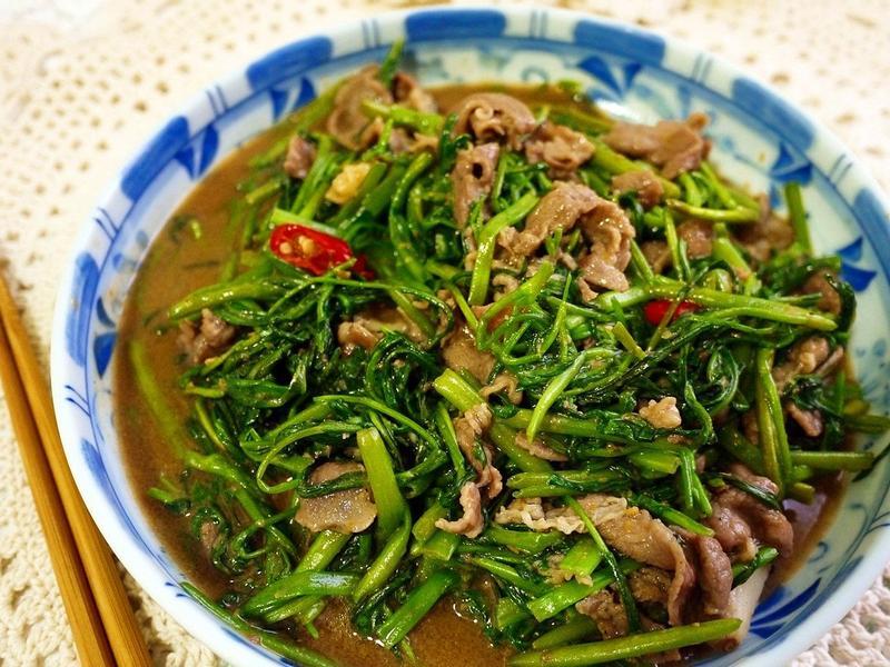 空心菜沙茶牛肉