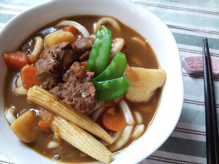 簡單料理 ~ 咖哩牛肉烏龍麵