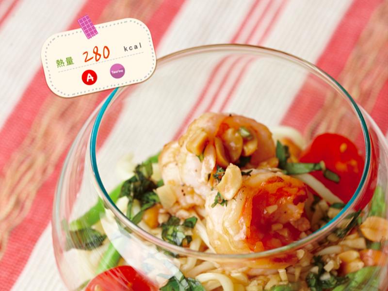 【愛瘦身食堂】泰式鮮蝦蒟蒻涼麵