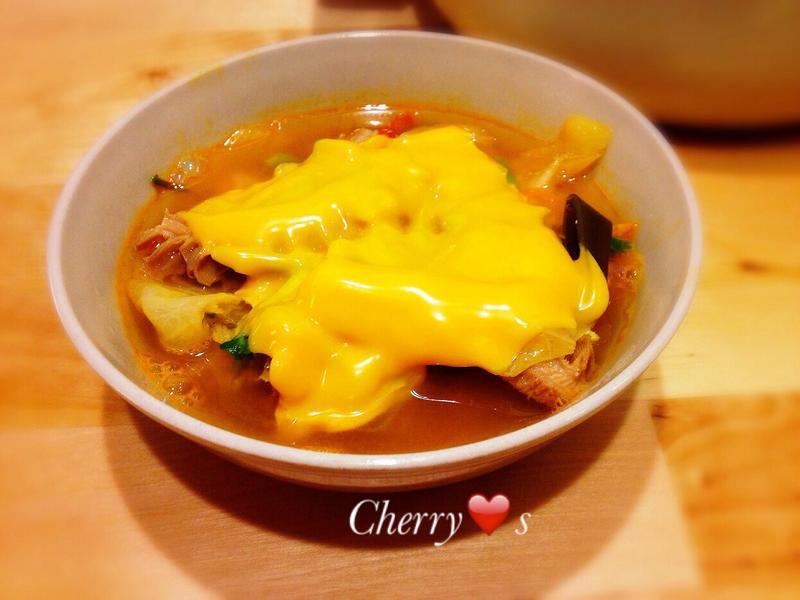 韓式起司牛雜鍋