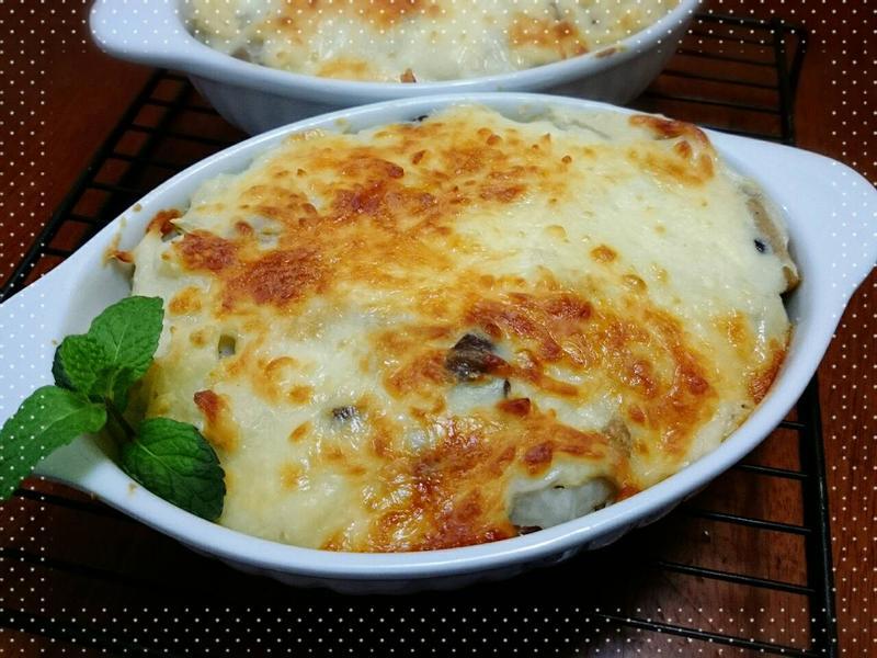 奶油白菜菇菇焗飯