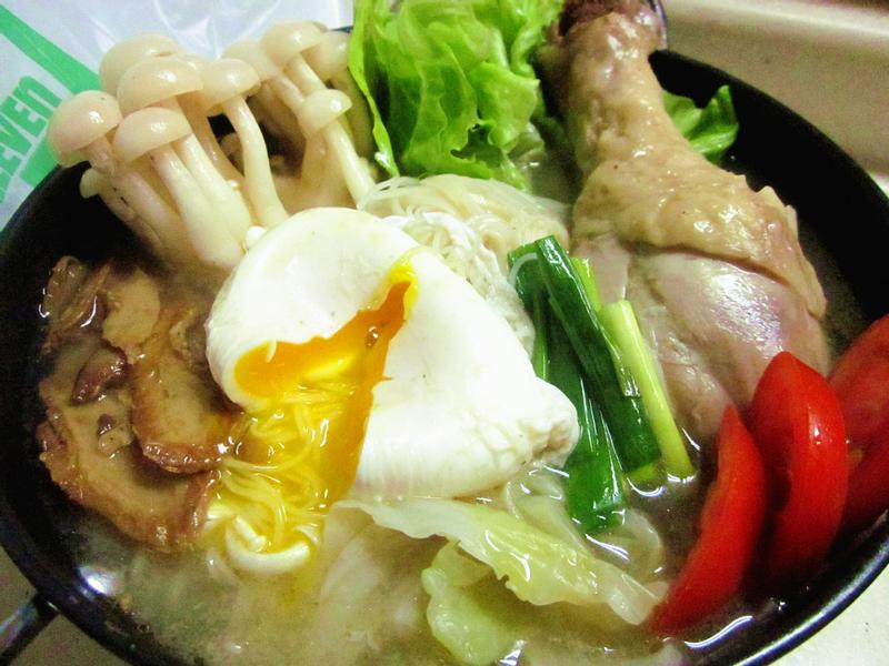 水波蛋麻油雞麵線【小七食堂回家煮】