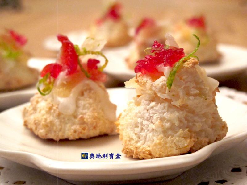 鳳梨椰蓉雪花餅乾-奧地利聖誕節傳統美食
