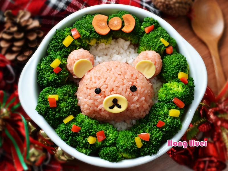 聖誕花圈彩米拉拉熊