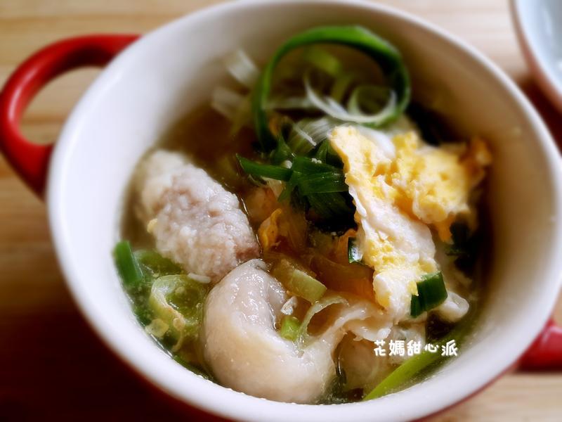 蔥香魚餃湯