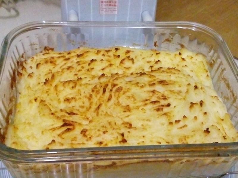 巴瑪火腿焗薯蓉 電飯煲+光波爐