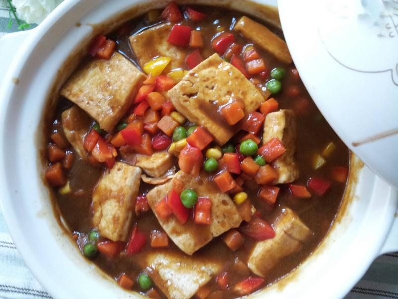 雜菜咖哩豆腐煲