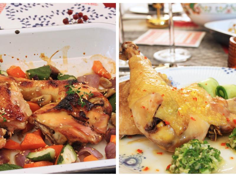 【闔家團圓】蔥油雞+蜜汁雞