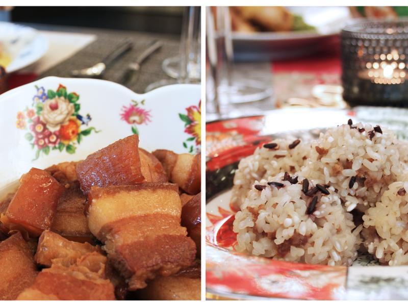 【闔家團圓】家傳焦糖紅燒肉+豬肉珍珠丸子