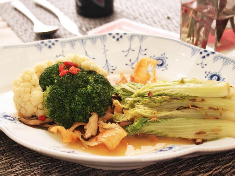 【闔家團圓】開陽干貝娃娃菜滷+白綠花椰菜