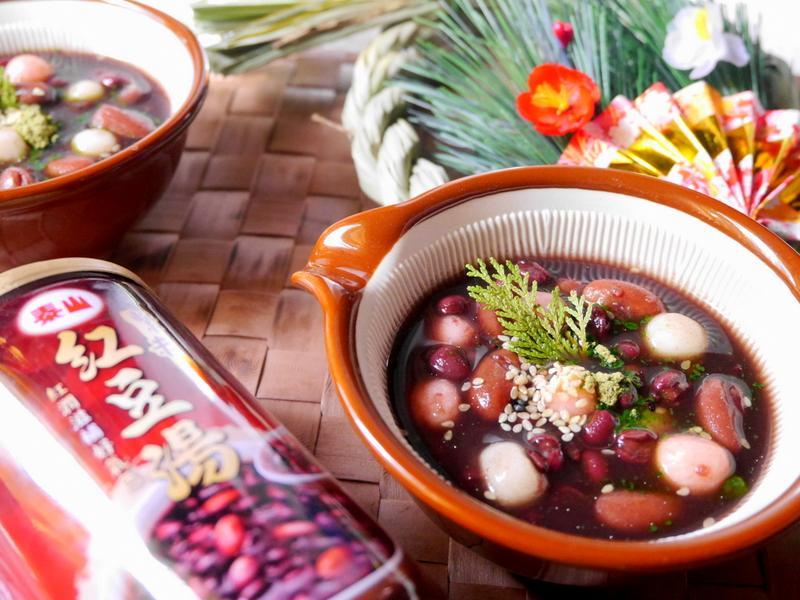5分鐘日式紅豆抹茶湯圓【泰山紫米紅豆湯】