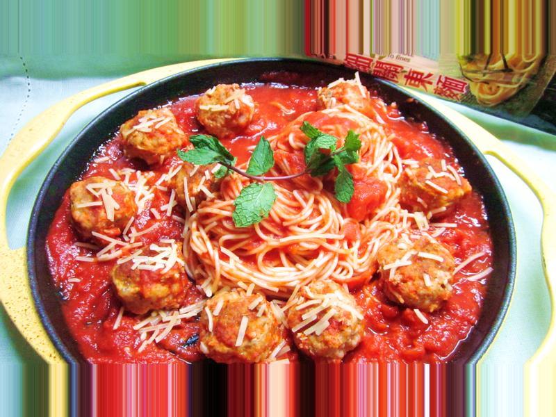 茄汁起司肉丸麵