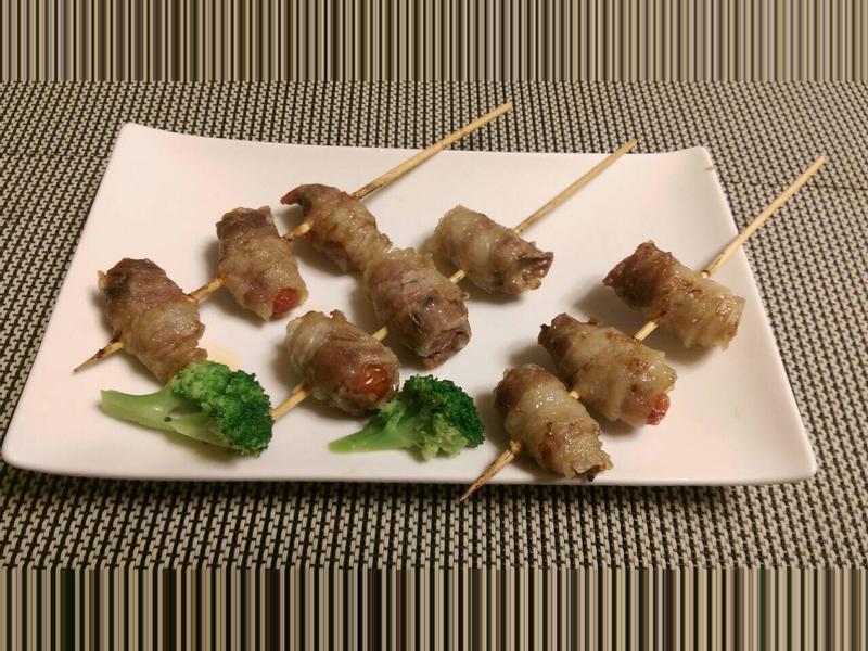 無煙料理~烤番茄肉串/蔥肉串