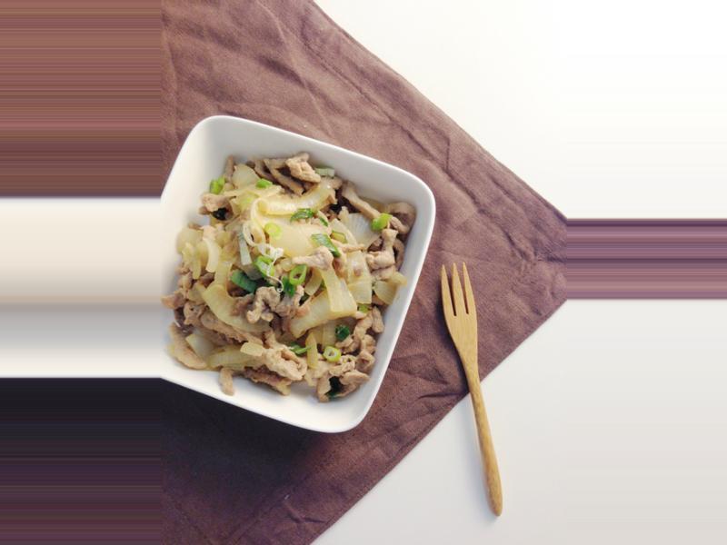 椰香洋蔥炒肉絲