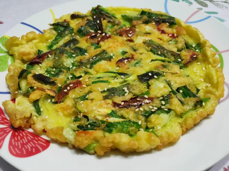lanni 蝦仁蔬菜煎餅