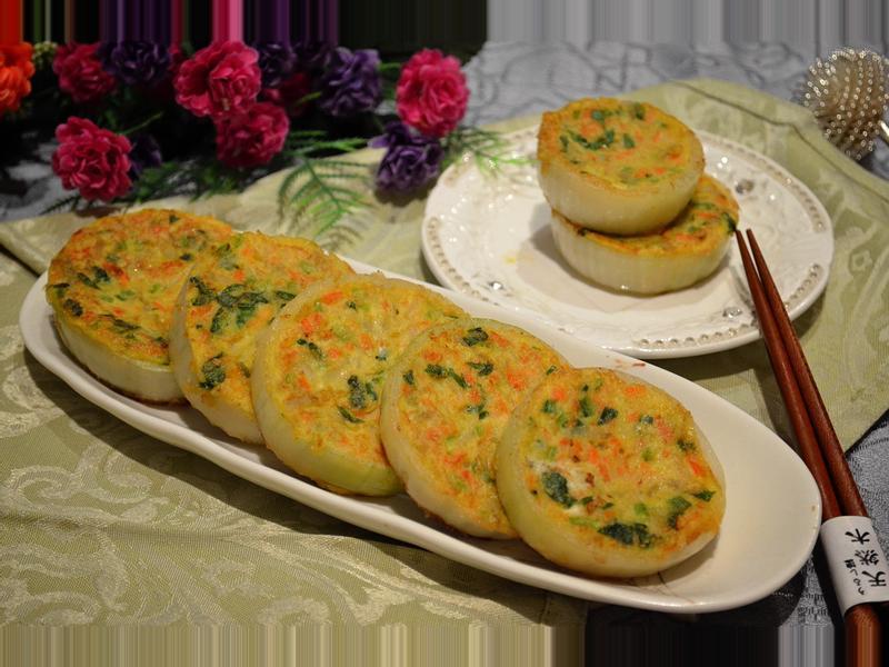 馬鈴薯菠菜洋蔥蛋圈餅