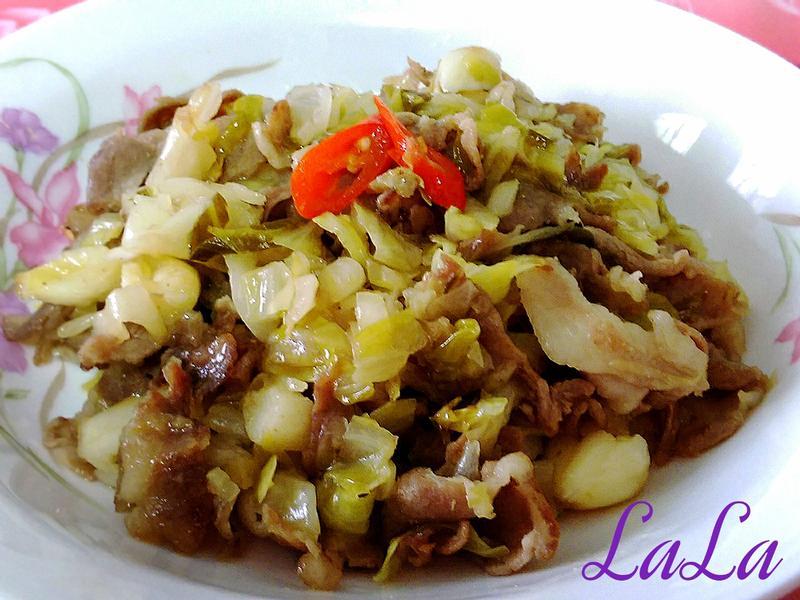 簡單下飯-德國酸菜炒肉片
