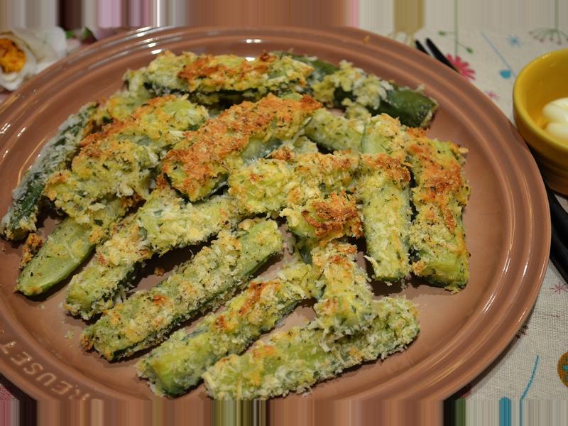 香脆起司烤黃瓜棒