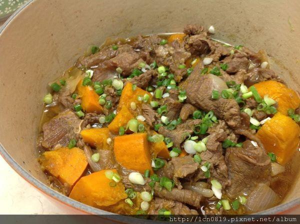 塩麴南瓜燉牛肉