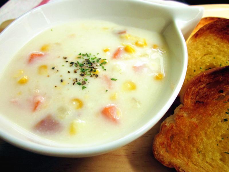 簡單做餐廳級~玉米濃湯