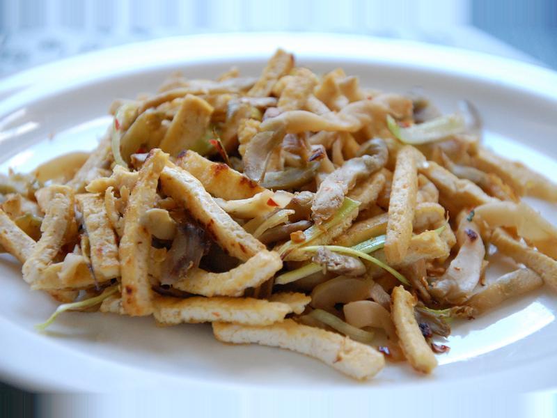 清脆榨菜炒豆腐干