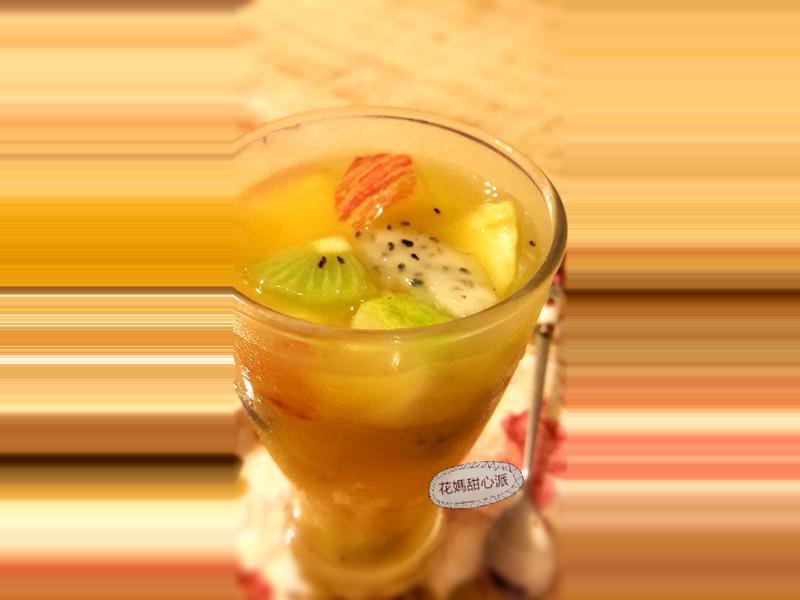 桔香蜂蜜水果茶
