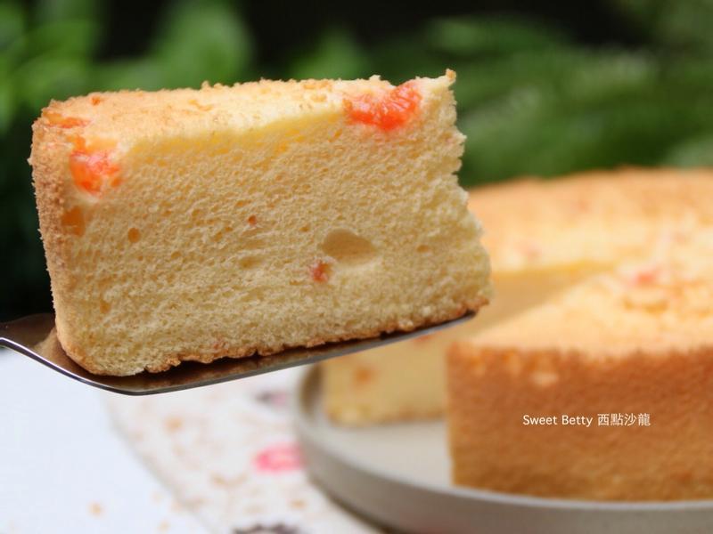 滿滿葡萄柚的戚風蛋糕